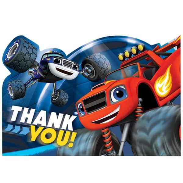 Blaze le agradece las tarjetas con los sobres - Paquete de 8