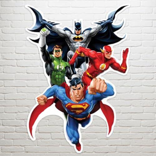 Justice League Heroes Arte de la Pared - 81cm