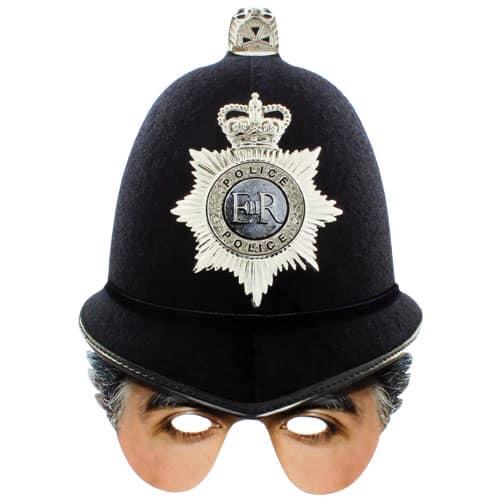 Mascarilla de la policía Casco de cartón