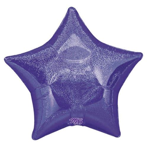 Forma Púrpura Del Diamante Dazzler Estrella Globo de la Hoja - 48cm