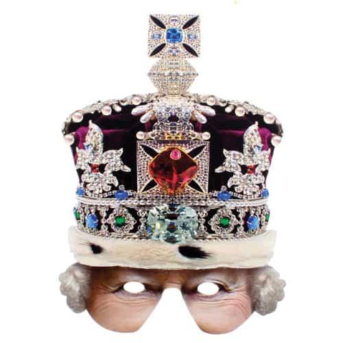 Corona de la reina de cartón media mascarilla