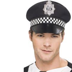 Sombreros de la policía