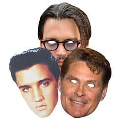 Máscaras americanas de la celebridad