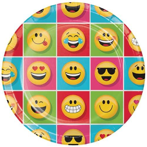 Emoji Diseños de Papel Redondo de 23 cm Placa