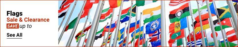 Venta de banderas y liquidación