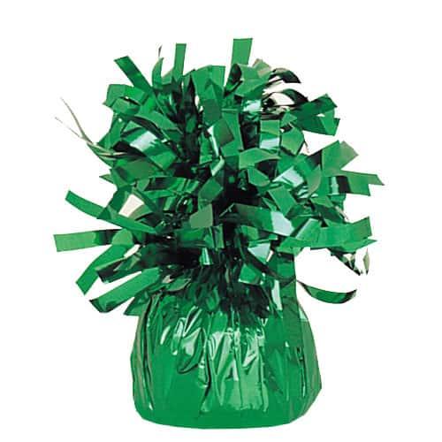 Peso del globo de lámina verde esmeralda