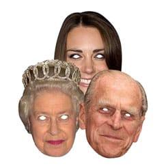 Máscaras faciales familiares reales