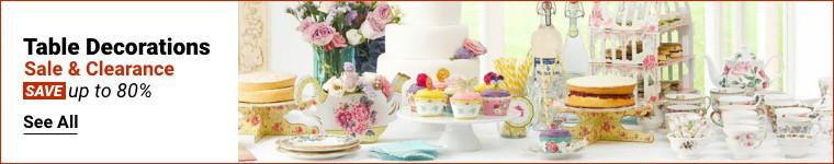 Venta de adornos de mesa y liquidación