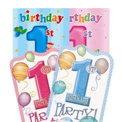 Primeras invitaciones de cumpleaños y tarjetas de agradecimiento
