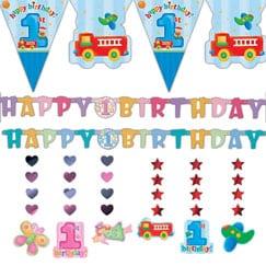 Primeras decoraciones de fiesta de cumpleaños