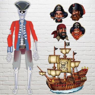 Recortes decorativos de piratas