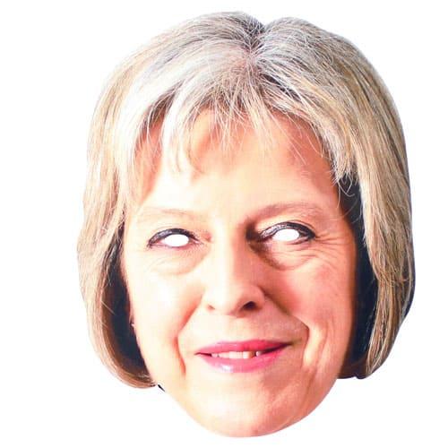 Mascarilla Theresa May Cartón