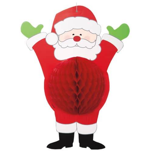 Navidad Colgando Santa Panal Decoracion
