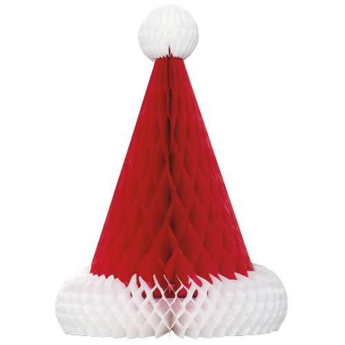Decoración de Navidad de Santa Sombrero de Nido de Abeja - 30cm