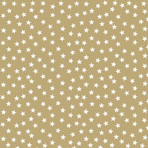 Oro Con Estrellas Y Arboles Diseño Luncheon Napkins 3 Ply - 33cm - Paquete de 20