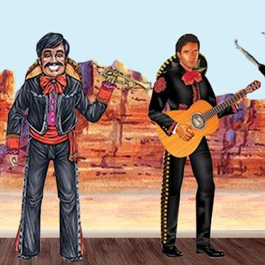 Setters de escena de fiesta mexicana