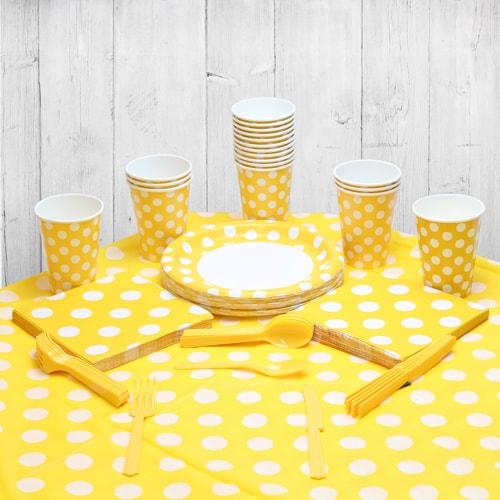 Paquete Decorativo De Girasol Amarillo Punto 18 Personas Fiesta
