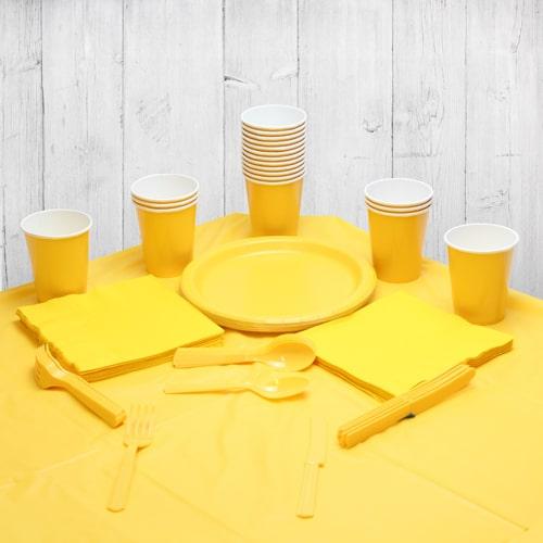 Paquete De Fiesta Amarillo Para 18 Personas