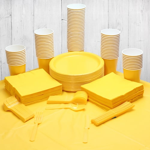 Paquete De Fiesta Amarillo Para 90 Personas