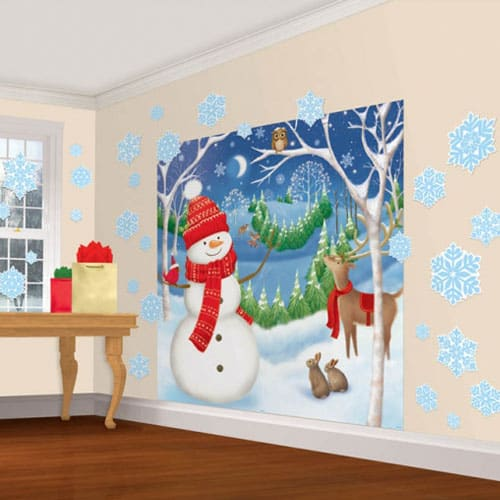 Decoración de Navidad de Invierno Amigos 165cm Kit
