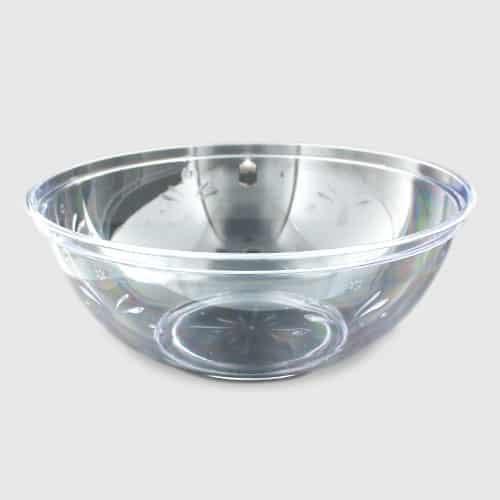 Tazón de Fuente de Plástico Transparente 30cm