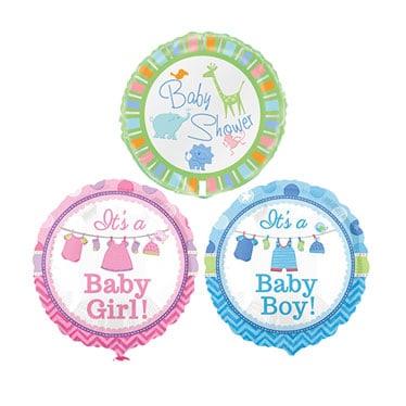 Globos y accesorios de la fiesta de bienvenida al bebé
