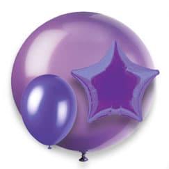 Globos púrpuras