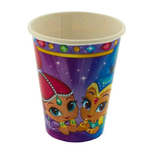 Vasos De Papel Con Brillo Y Brillo 266Ml - Paquete De 8