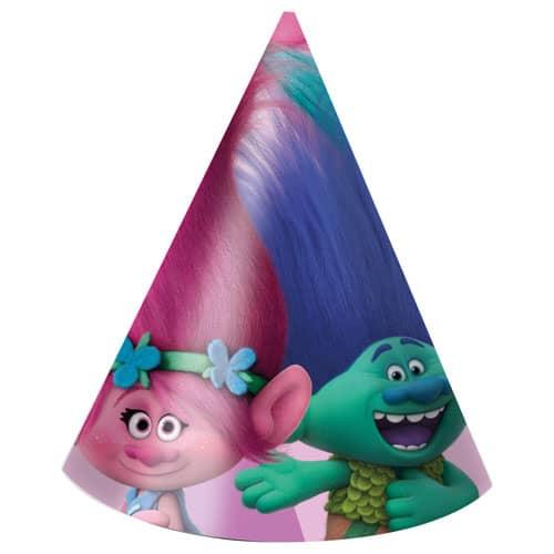 Trolls Cone Party Hats - Paquete de 6