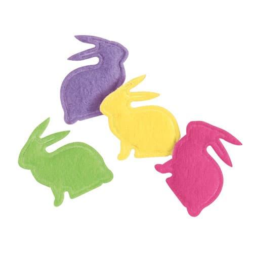 Conejo de Pascua Diseños confeti - Pack de 20