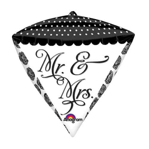 Sr. y Sra. Diamondz Globo de Láminas - 43cm