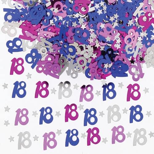 Confeti de la Tabla de 18 Cumpleaños Rosa - 14 gramos