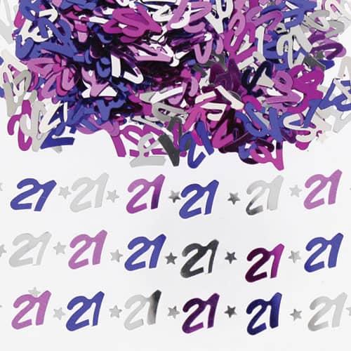 Confeti de la tabla del rosa del cumpleaños 21 - 14 gramos