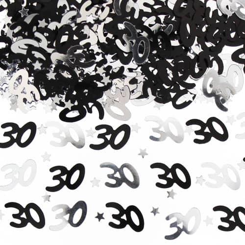 Confeti de la Tabla del Negro y de la Plata del Trigésimo Cumpleaños - 14 gramos