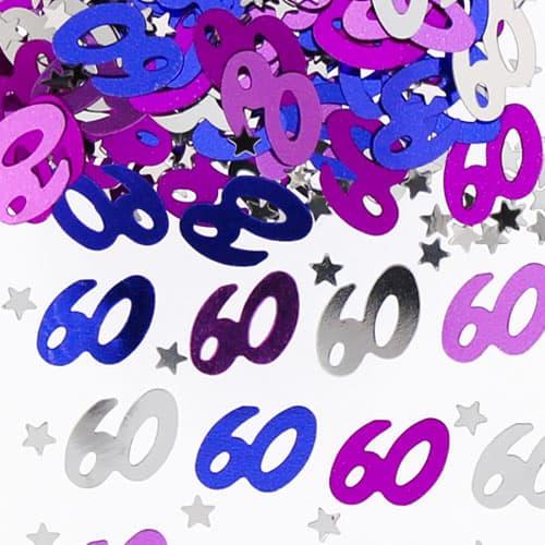 60to Confeti de la Tabla del Rosa del Cumpleaños - 14 gramos