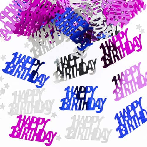 Confetti de la Tabla del Rosa de la Muchacha del Cumpleaños - 14 gramos