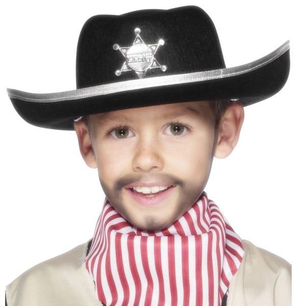 Sombrero negro del sheriff de los niños del fiel