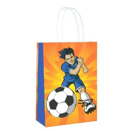 Bolsa de Papel de Fútbol con Asas 21cm