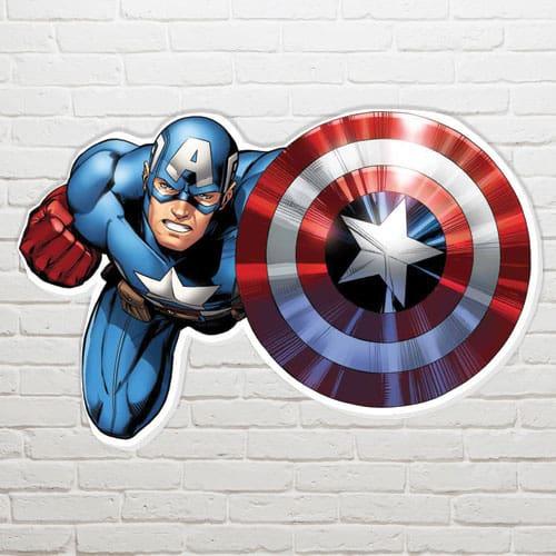 Marvel Capitán América Escudo Arte de la Pared - 61 x 94 cm