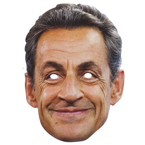 Nicolas Sarkozy Cardboard Face Mask