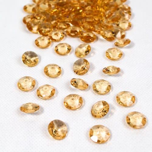 Oro 12Mm Diamantes Redondos Premium Gemas De Mesa 28G