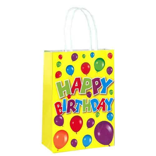 Bolsa de Papel Feliz Cumpleaños con Asas 21cm