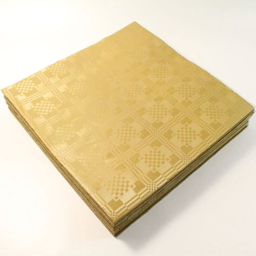 Mantel de mesa, Papel Color Dorado Metalizado - 90 cm x 88 cm Paquete De 25 uds.