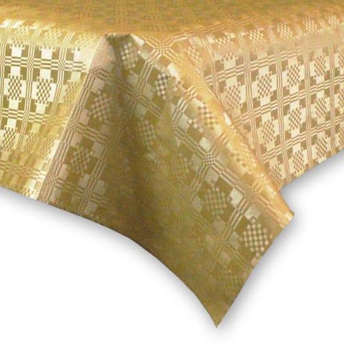 Mantel de mesa, Papel Color Dorado Metalizado - 90cm x 88 cm