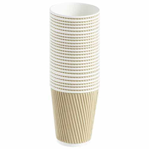 Taza de Bebidas Calientes de Papel Acanalado 340ml Paquete de 25