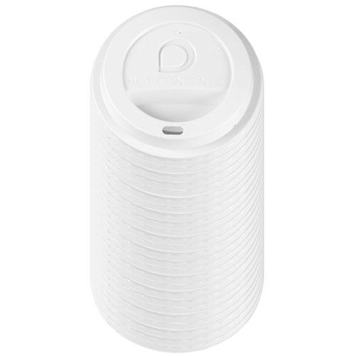 Blanco Bebidas Calientes Tapa con Agujero de Beber Paquete de 25
