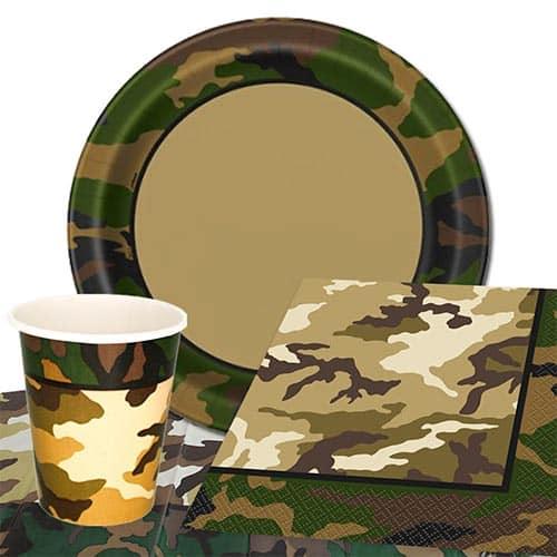 Tema De Camuflaje Militar 8 Personas Valoran Paquete De Fiesta