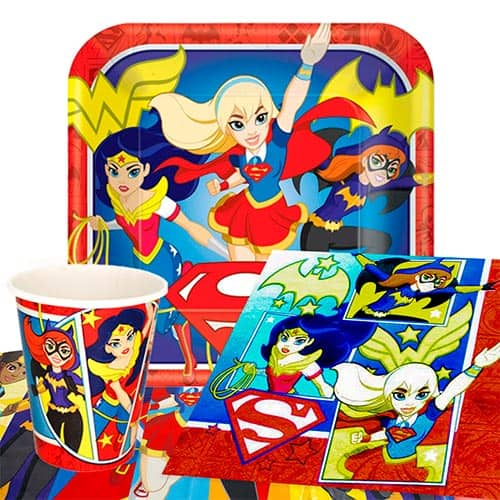 Paquete De Fiesta Dc Super Héroe Héroe Chicas 8 Persona Valor