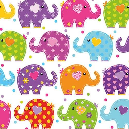 Divertido Diseño de los Elefantes Almuerzo Servilletas de 3 Capas - 33cm - Pack de 20