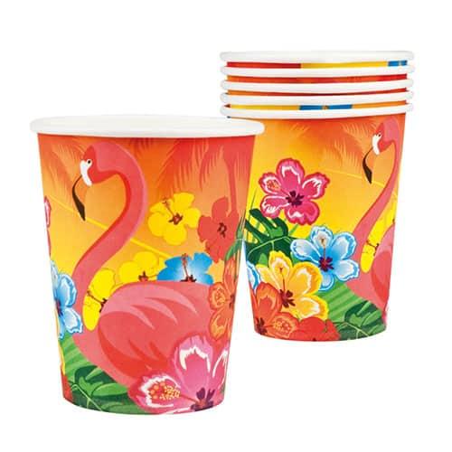 Vasos De Papel Aloha 250Ml - Paquete De 6